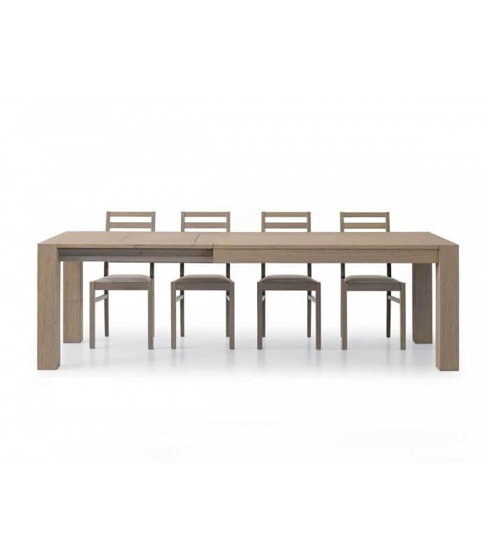 Tavolo da Pranzo Moderno Legno Rovere Marrone - Spazio Casa