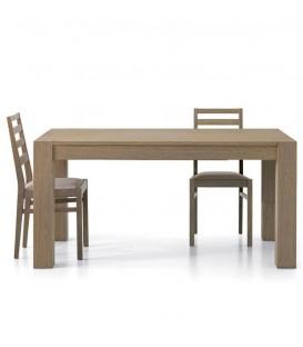 Tavolo da Pranzo Moderno Legno Rovere Marrone