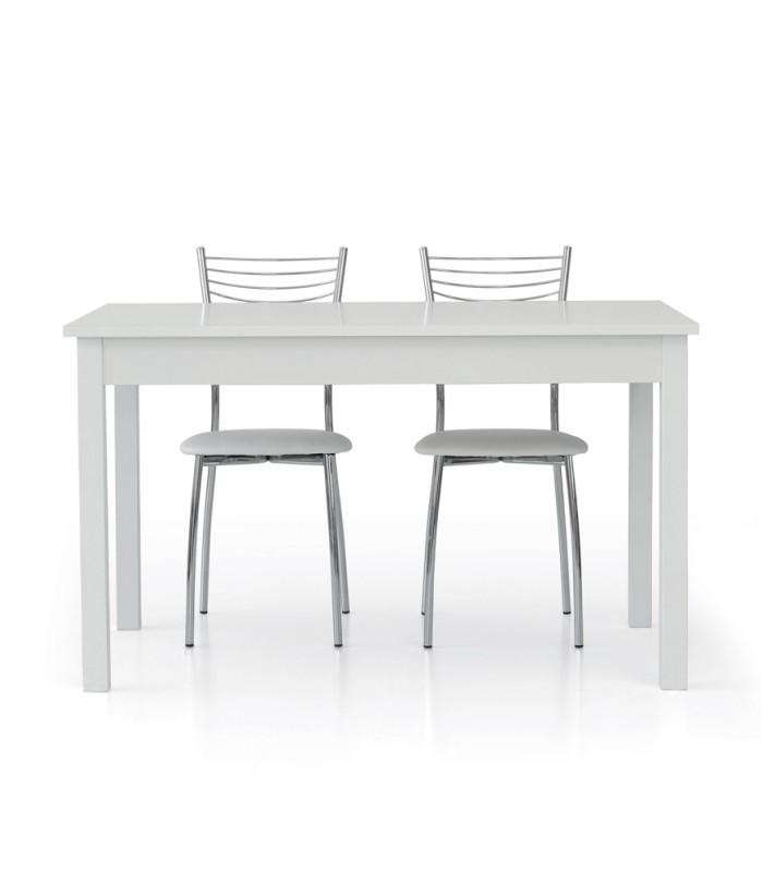 Tavolo Rettangolare Legno Allungabile.Tavolo In Legno Allungabile Bianco Frassinato Spazio Casa