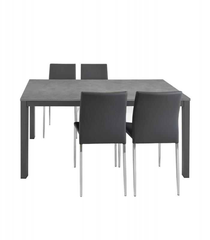 Tavolo Da Cucina Moderno.Tavolo Grigio Allungabile Moderno Spazio Casa