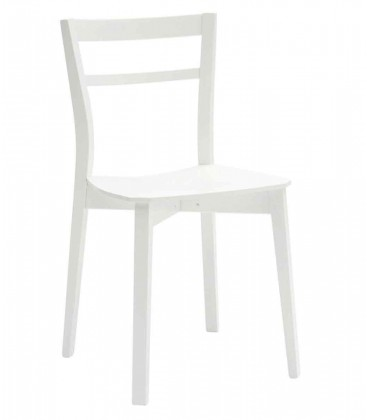 Sedia moderna bianca in legno