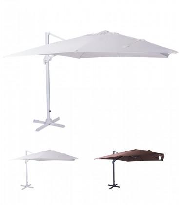 Ombrellone parasole ruotante palo laterale con frizione a pedale