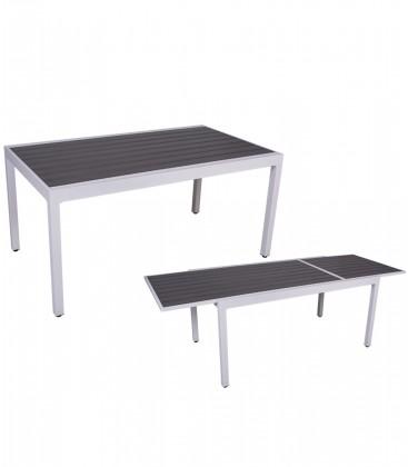 Tavolo per esterno New York in alluminio allungabile