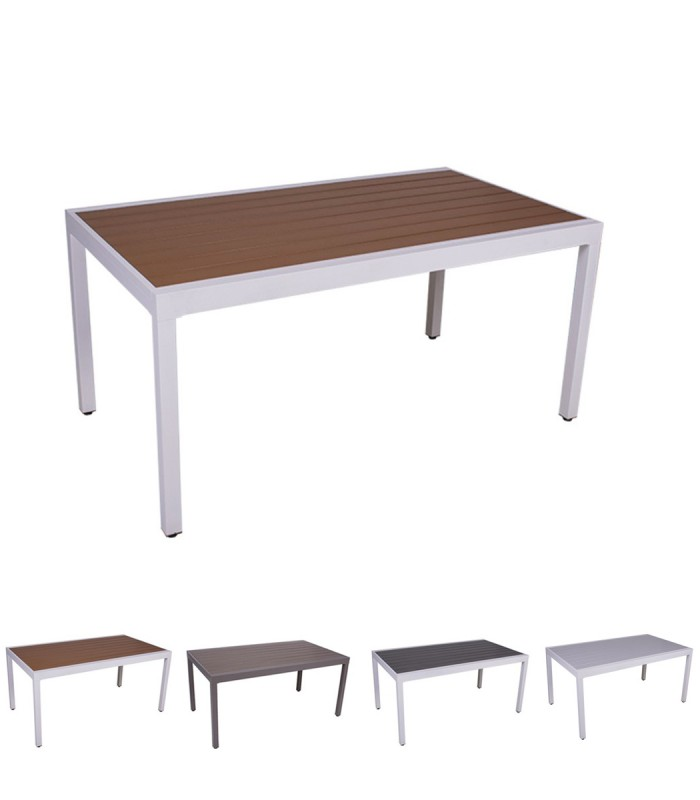 Tavolo per esterno New York in alluminio allungabile ...