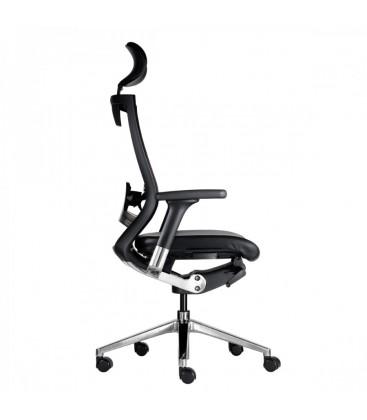 Sedia Nera con schienale alto da ufficio