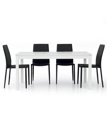 Tavolo allungabile design moderno Bianco frassinato
