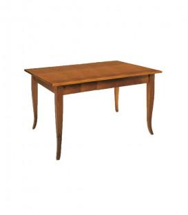 Tavolo rettangolare legno piedi a sciabola Noce