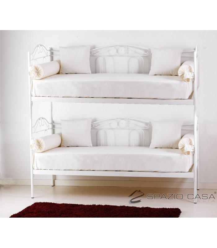 Divano letto a castello in ferro battuto flora for Divano letto bianco