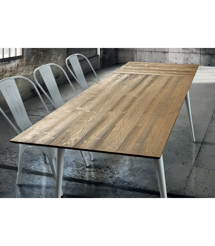 Tavolo Di Design In Legno Allungabile Abete Spazzolato Naturale Spazio Casa