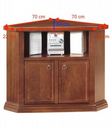 Mobile porta TV ad angolo legno arte povera