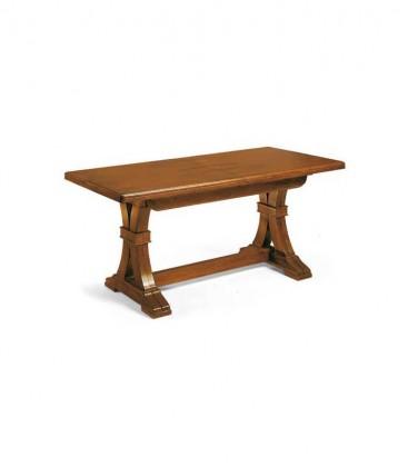 Tavolo in legno design classico ferro  Noce Lucido