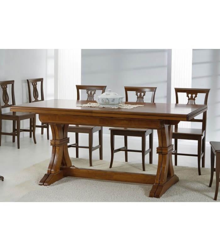 Tavolo Sala da Pranzo Classico in Legno Noce Gambe a Y ...