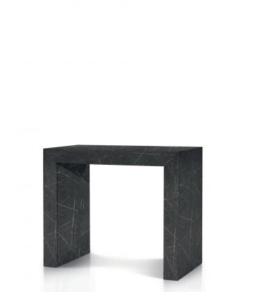 Consolle Tavolo 90 x 45 effetto Marmo Allungabile 90 x 295 cm