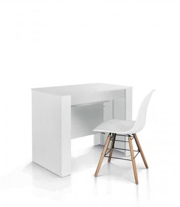 Consolle Tavolo 90 x 50 Nobilitato Bianco Allungabile 12 posti
