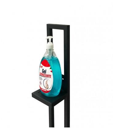 Piantana Porta Dispenser in ferro tubolare 20x20 per Igienizzante Mani