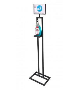 Piantana Porta Dispenser con Display Informativo per Igienizzante Mani