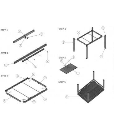 Secondo Step Istruzioni montaggio Tavolo