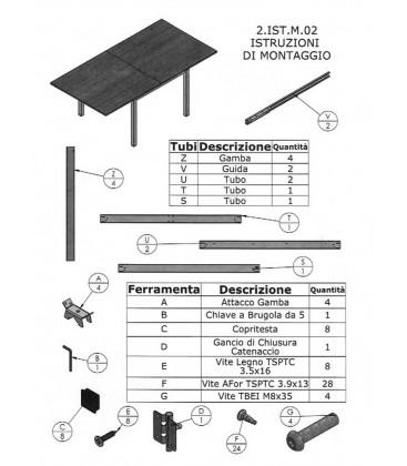 Tavolo Quadrato a Libro Effetto Marmo Nero