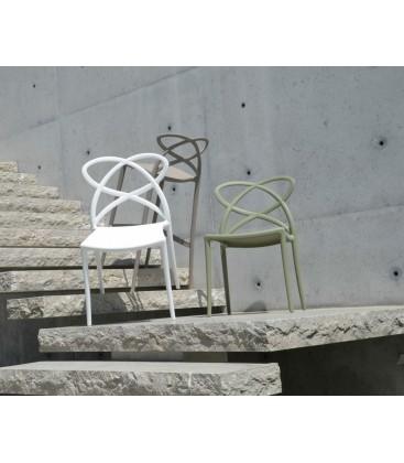 Sedia di Design in Polipropilene Avocado