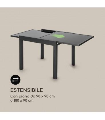 Tavolo Allungabile Quadrato in Vetro