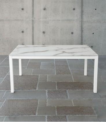 Tavolo Allungabile in Vetro effetto pietra