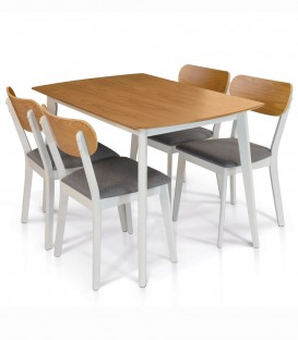 Tavolo Rettangolare in Legno da Cucina Bianco
