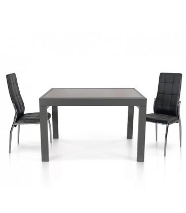 Tavolo Allungabile Rettangolare Vetro e Metallo