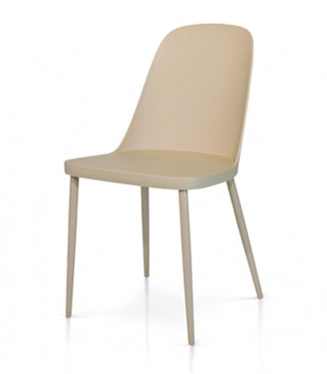 Sedia in Polipropilene Tortora