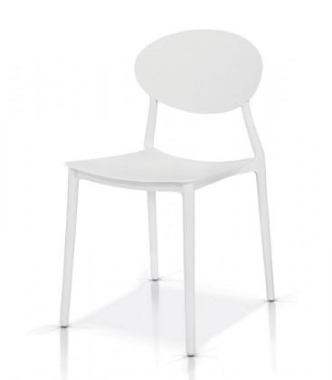Sedia Moderna in Polipropilene Bianca
