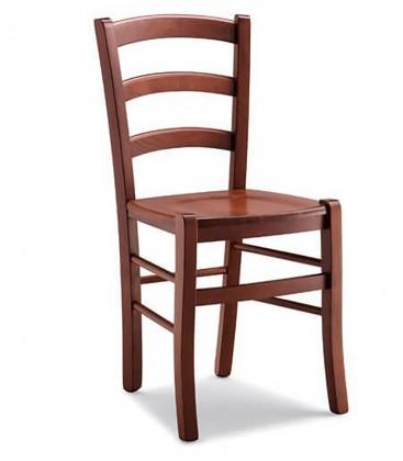 Set Tavolo 120 x 80 allungabile + 6 Sedie Venezia Colore Noce seduta massello