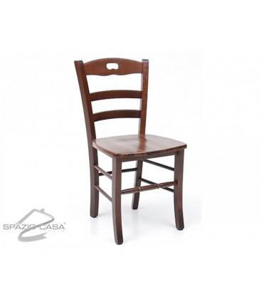 Set Tavolo rettangolare allungabile + Sedie Rochelle seduta massello Noce
