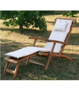 Sdraio in legno Real Chaise Longue