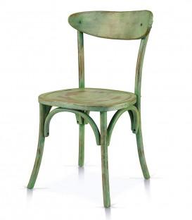 Sedia Vintage in legno Verde Consumato