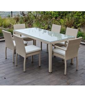 Tavolo rettangolare da esterno IKARO Bianco