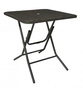Tavolino Quadrato in Ferro Pieghevole Antracite