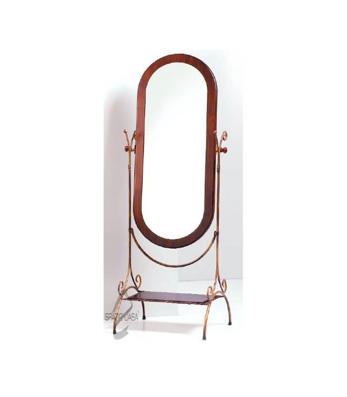 specchio da terra con ferro battuto