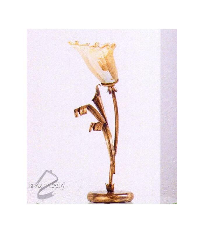 Lume da tavolo calle 1 luce in ferro battuto for Lumi da tavolo classici