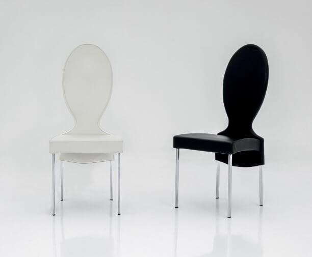 Sedie Schienale Alto Design : Sedia salotto schienale alto design moderno vivienne tonin casa