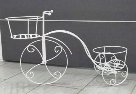 Bici porta vaso in ferro battuto
