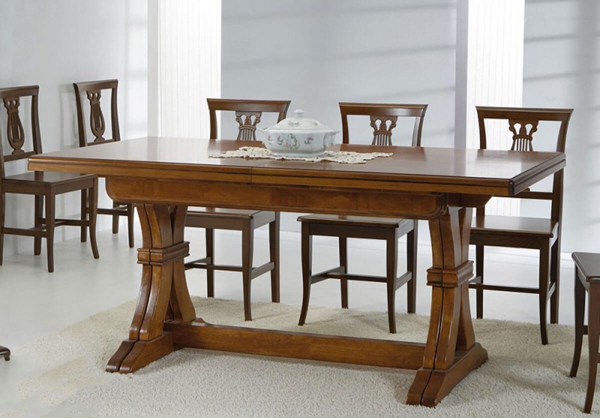 Tavolo legno classico allungabile for Tavolo sala allungabile