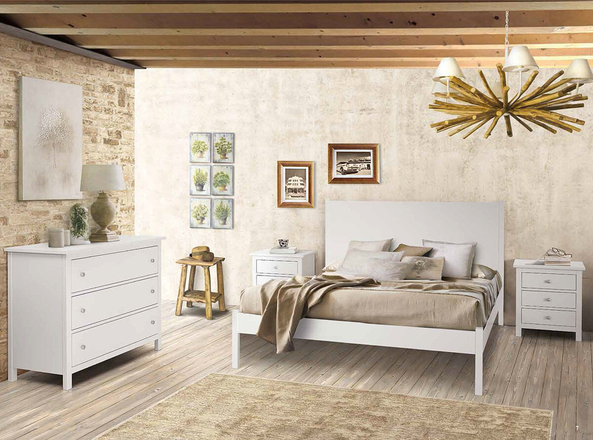 Camera da letto laccato bianco Shabby