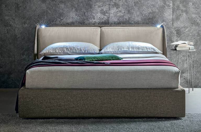 Letto design moderno LED integrato