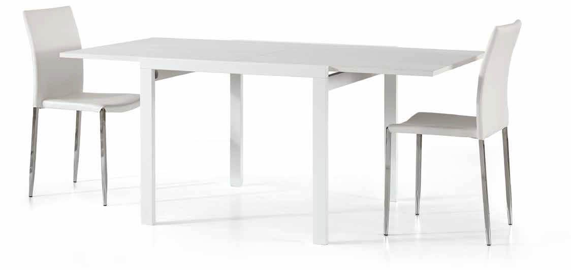 Tavolo Quadrato Bianco Allungabile.Tavolo Quadrato Bianco Frassinato