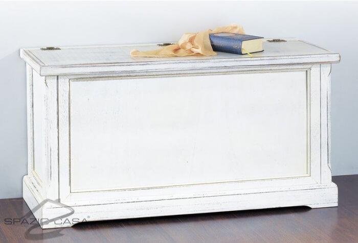 Cassapanca in legno bianco decò