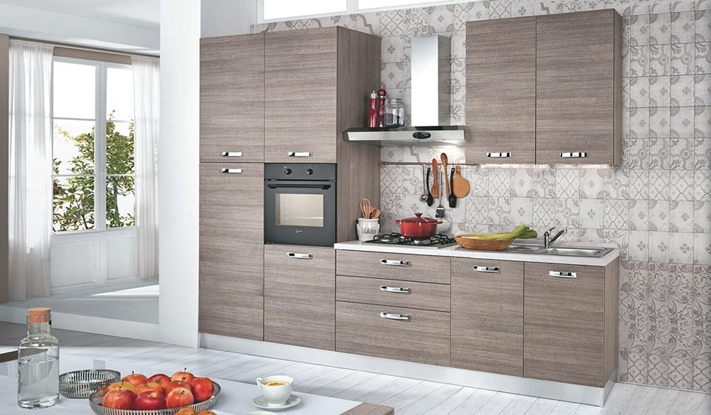 Cucina moderna 3 metri larice grigio - Cucina 3 metri angolare ...