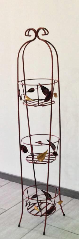 Alzatina porta vasi 3 posti ferro battuto