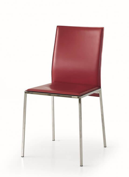 sedia-moderna-imbottita-ecopelle-rossa-a