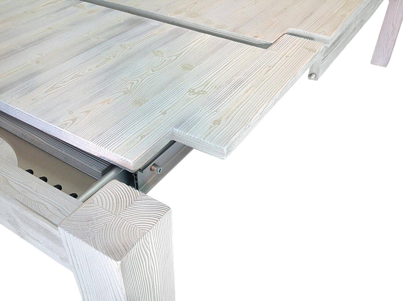Tavolo x in legno massello di rovere bianco consumato ebay for Tavolo bianco legno
