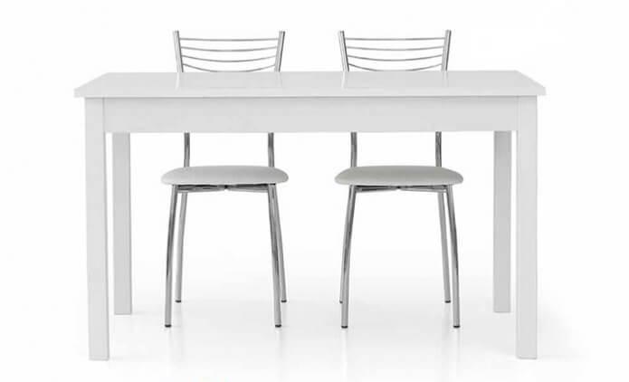 tavolo con sedie moderne allungabile bianco