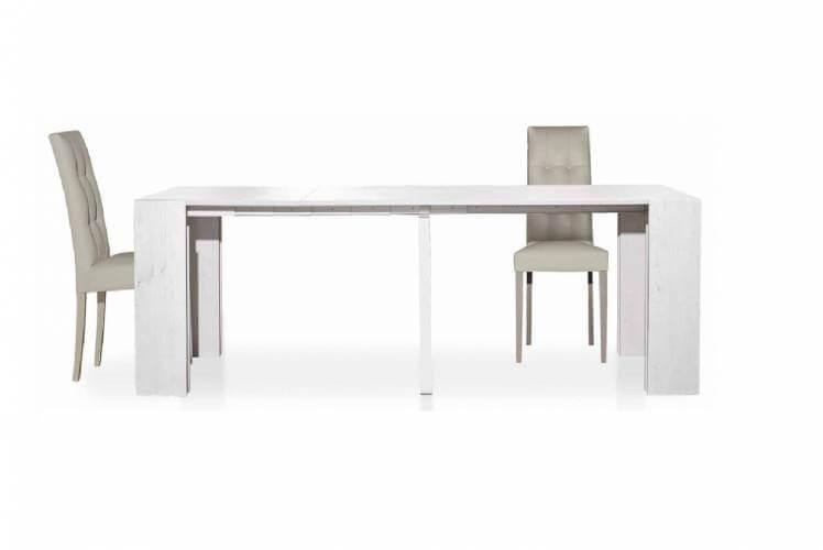 Tavolo 90 x 295 cm laminato bianco consumato